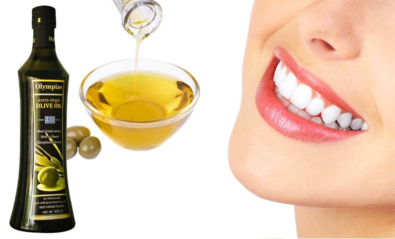 Làm trắng răng bằng dầu oliu cực hiệu quả