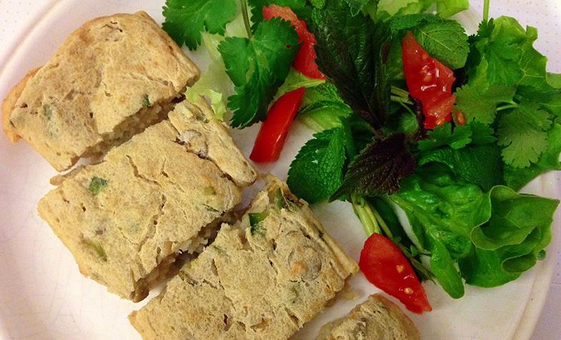 Bánh mặn đậu phụ quả oliu